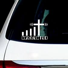 6 Connected Cross Precision Cut Wifi Christian Car Decal Truck Window Vinyl Sticker Decal Wish