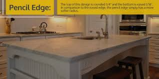 pencil edge vs eased edge countertops