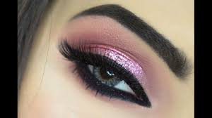 pink glitter eye makeup holiday makeup makeupbyazmeree you
