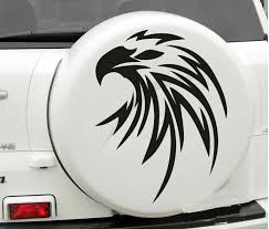 Car Decal Flying Eagle 20 X 25 For Rav4 Vinyl Spare Tire Cover Hood Sticker Cg295 Black Hood Decal Eagle Hood Decaleagle Decals Aliexpress