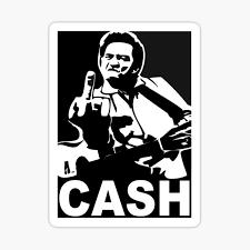 Oldschool Johnny Cash Sticker Decal Man In Black Rockabilly Car Decal Us Rainbowlands Lk