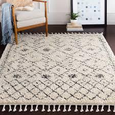 roger geometric charcoal beige area rug