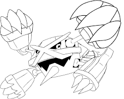 Pokemon Mega Evolution Kleurplaat