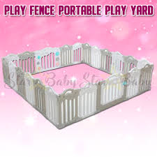 Baby Playpen Fence Portable Play Yard For Kids And Infant Plastic Room Divider Lazada Ph