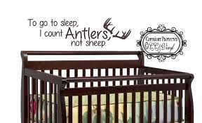 To Go To Sleep I Count Antlers Not Sheep Vinyl Wall Decal On Luulla
