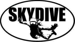 Skydive Euro Oval Bumper Sticker Vinyl Car Window Decal Laptop Sticker Ebay