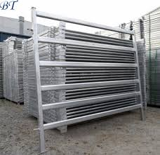 China 1 8 M High 6 Rails Galvanized Livestock Cattle Fence Panel China Cattle Yard Livestock Yard