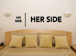 2016 New Removale Quotes His Side Her Side Fun Bedroom Living Room Dining Decal Wall Art Sticker Free Shipping Wall Art Stickers Art Wall Stickerwall Decals Stickers Aliexpress