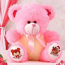 pink lovable stuffed bear gift send