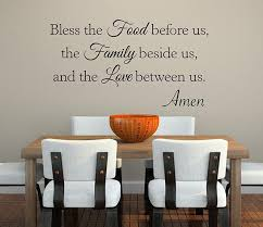Bless The Food Before Us Wall Decal Quote Room Decor Art Lovely Decals World