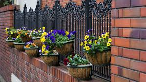 45 Beautiful Fence Planters Decorate Your Garden Fence Fence Planters Wrought Iron Fences Iron Fence