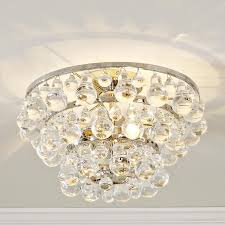 clear acrylic round flush mount