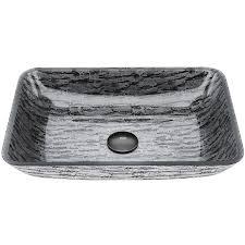 vigo rectangular titanium glass vessel