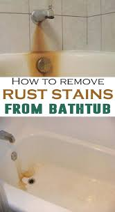 how to remove stains from bathroom sink