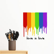 Love Pride Gradient Lgbt Ally Rainbow Homo Homosexual Removable Wall Sticker Art Decals Mural Diy Wallpaper For Room Decal Wallpapers For For Roomwall Sticker Aliexpress