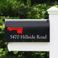 Personalized Mailbox Decal Mailbox Vinyl Decals Ebay