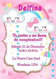 Tarjeta Invitacion Lluvia De Amor Digital Cumpleanos 150 00 En