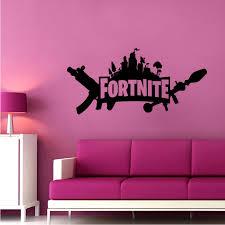 Fortnite Logo Illustrations Design Decor Wall Art Vinyl Decal Girls Boys Kids Room Bedroom Nursery Kindergarten Fun Home Children Room Decor Wall Art Vinyl Stickers Adhesive Murals Size 30x27 Inch Walmart Com