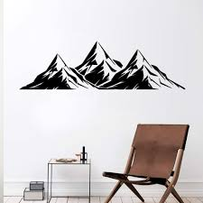 Creative Mountains Vinyl Wall Sticker For Living Room Decor Vinyl Wallpaper Mural Kids Room Decal Stickers Wall Stickers Aliexpress