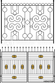 Wrought Iron Gate Door Fence Window Grill Railing Design Buy This Stock Vector And Explore Similar Vectors At Adobe Stock Adobe Stock