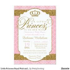 Invitacion Poco Rosa Y Oro Baby Shower De La Princesa Real