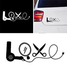 Creative Hair Dryer Mirror Scissors Stylist Tool Love Car Decal Sticker Decor Car Stickers Aliexpress