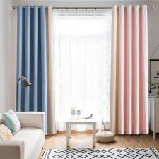 Amazon Com Vandesun Multicolor Window Curtains Mix And Match Color Decoration Grommet Top Drapes For Kids Room Nursery Room Living Room And Game Room 52 W X 63 L 2 Panels Furniture Decor