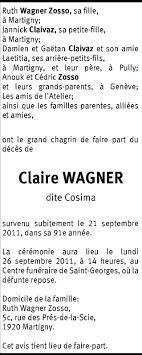 Hommages - Pour que son souvenir demeure: Claire WAGNER