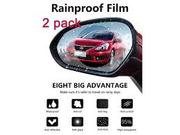 Car Rearview Mirror Protective Film Waterproof Film Anti Fog Hd Car Rearview Mirror Decal Rainproof Anti Glare Anti Scratch Clear Protective Film For Car Rearview Side Mirror Glass Pack Of 2pcs Newegg Com