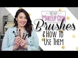 new makeup geek brushes and how to use