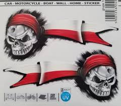 Poland Polish Pirate With Flag Decal Sticker Set Of 2 Zava International Corp