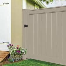 Freedom 5 In X 5 In W X 12 Ft H Khaki Vinyl Blank Fence Post In The Vinyl Fence Posts Department At Lowes Com