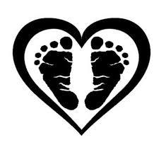 Baby Footprint Heart Decal Baby Footprint Sticker Car Decal Etsy