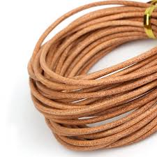 genuine leather cord round rope string