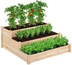 kealive 3 tier raised garden bed wooden