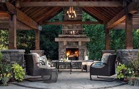 outdoor fireplace ideas patio best