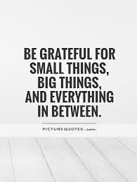 be grateful for small things big things and everything in