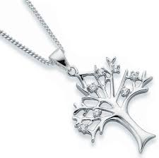 sterling silver cz tree of life on