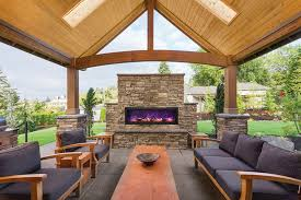 outdoor fireplaces archives stylish