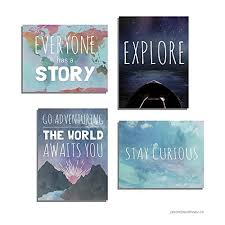 Explore Collection Of Four 05x07 Inch Print Wall Art Prints Typography Nursery Decor Kid S Wall Art