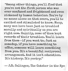 catcher in the rye quote poster by lolabella quote posters