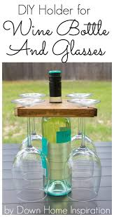 holder for a wine bottle and glasses