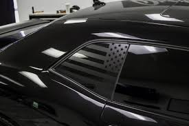 American Flag Quarter Window Decal 2008 2019 Challenger Premium Auto Styling