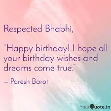 "respected bhabhi ""happy quotes writings by paresh barot"