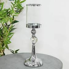 glass candlestick pillar candle holder