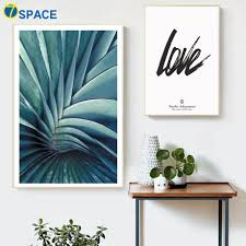 tropical plant agave leaf love wall art
