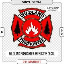 Wildland Firefighter Reflective Decal Ff Fire Maltese Cross Car Sticker Q 09 Ebay