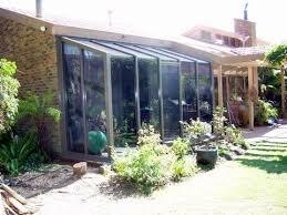 aluminium bay windows garden hooded