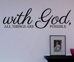 With God All Things Are Possible Vinyl Wall By Designstudiosigns 32 50 Vinyl Wall Art Decals Decal Wall Art Vinyl Wall Art