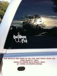 Real Woman Fish Fishing Car Auto Truck Window Laptop Vinyl Decal Sticker Ebay